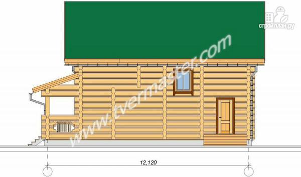 Фото 5: проект дом из строганого соснового лафета с большим крыльцом