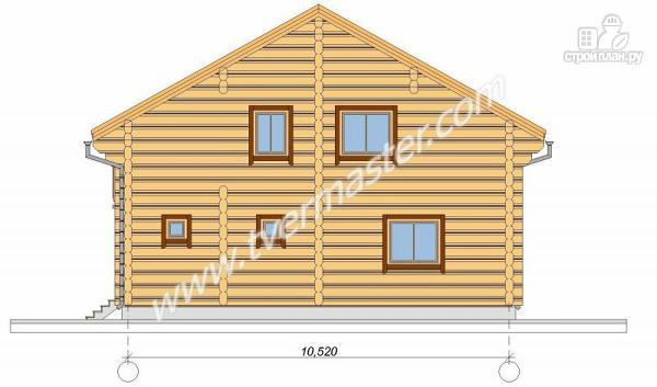 Фото 4: проект дом из строганого соснового лафета с большим крыльцом