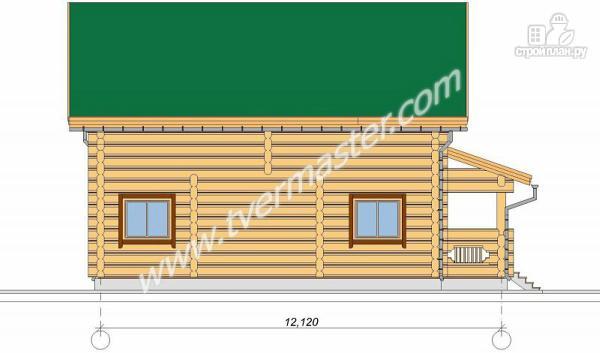 Фото 3: проект дом из строганого соснового лафета с большим крыльцом