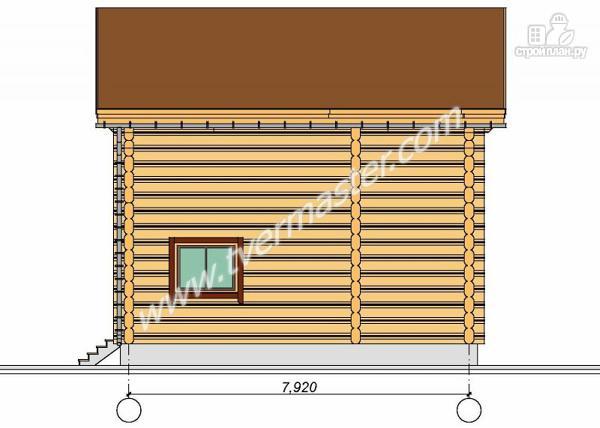 Фото 3: проект дом из строганого соснового лафета с балконом