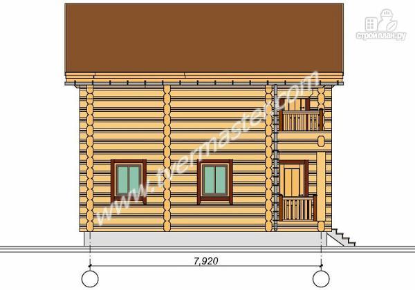 Фото 5: проект дом из строганого соснового лафета с балконом
