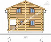 Фото: дом из строганого соснового лафета с балконом и угловой террасой