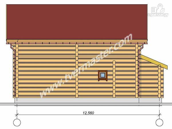 Фото 2: проект дом из строганого соснового лафета с вторым светом