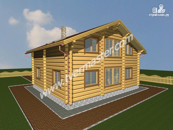Фото: проект дом из строганого соснового лафета с вторым светом