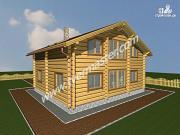 Фото: дом из строганого соснового лафета с вторым светом