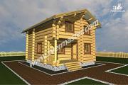 Проект двухэтажный дом-баня