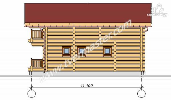 Фото 4: проект дом-баня с мансардным этажом, террасой и балконом
