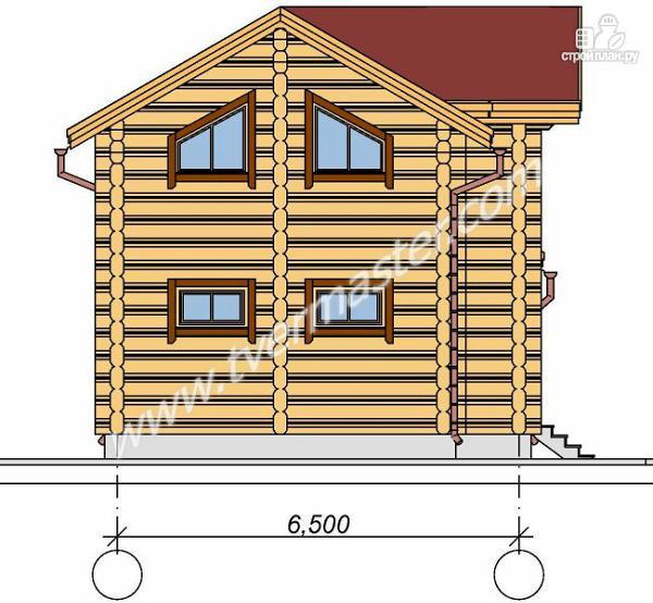 Фото 3: проект дом-баня с мансардным этажом, террасой и балконом