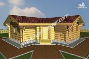 Проект одноэтажная баня из строганого соснового лафета