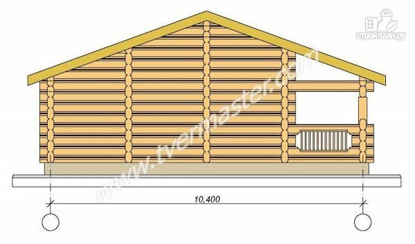 Фото 4: проект одноэтажная баня из строганого соснового лафета с террасой