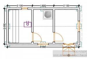 Баня из бруса 6х3 (брус 100*150)