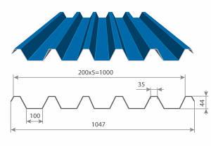 Профнастил с полимерным покрытием С44