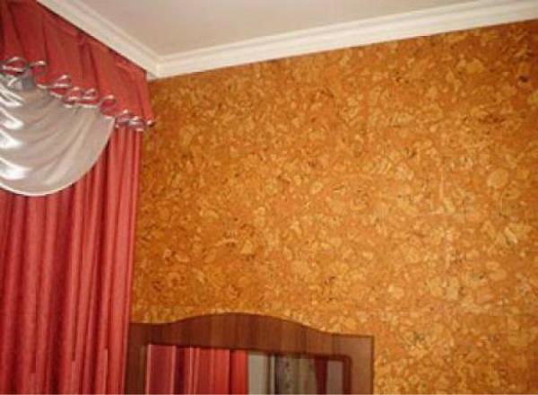 Отделка стен пробковым покрытием фото