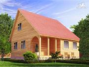 Проект брусовой дом 7x8