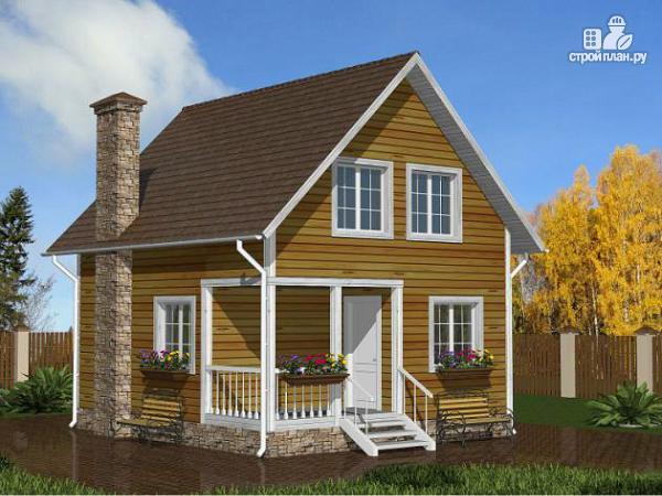 Фото: проект компактный дом 7x6 из бруса
