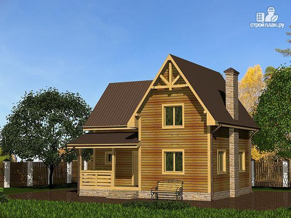 Фото: проект дом из бруса с просторной гостиной