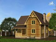 Фото: дом из бруса с просторной гостиной