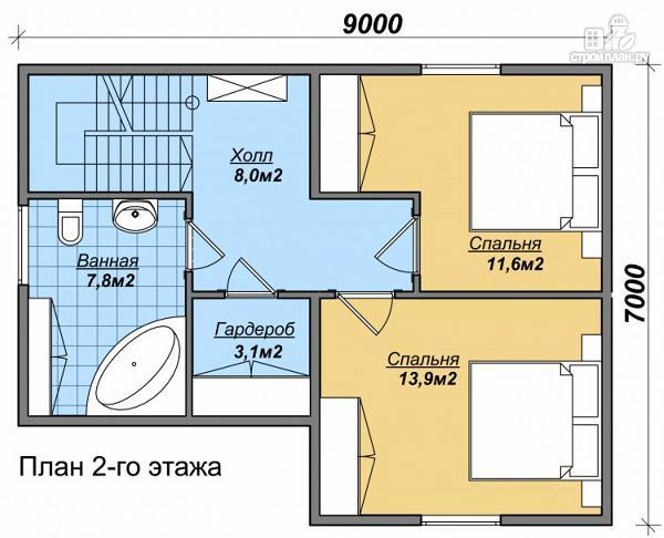 Фото 3: проект дом из бруса с просторной гостиной