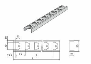 К-1150 Стойка кабельная К1150 цинк (2,5мм) (L-400мм)