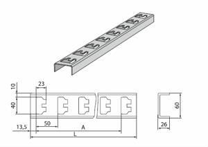 К-1151 Стойка кабельная К1151 цинк (2,5мм) (L-600мм)