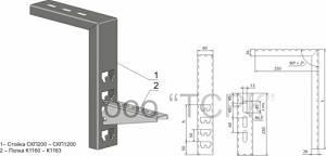 Стойка кабельная потолочная СКП200 У3