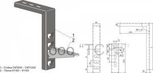 Стойка потолочная СКП200, СКП1000, СКП1200, СКП400,СКП500, СКП600, СКП800